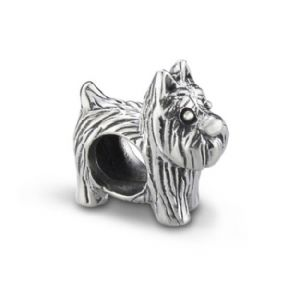 Scottie Dog Silver Keepsake Bead Charm 9840